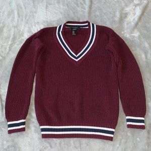 Burgundy Forever 21 Sweater